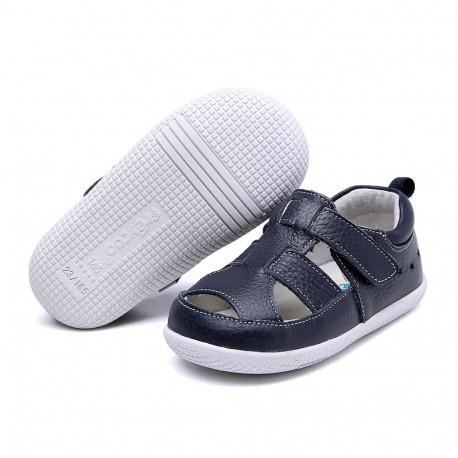Freycoo - kožené sandálky Eduard tmavomodré