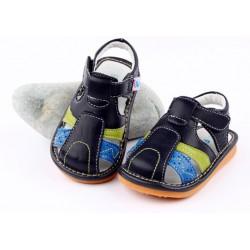 Kožené sandále Freycoo - Arthur tmavomodré
