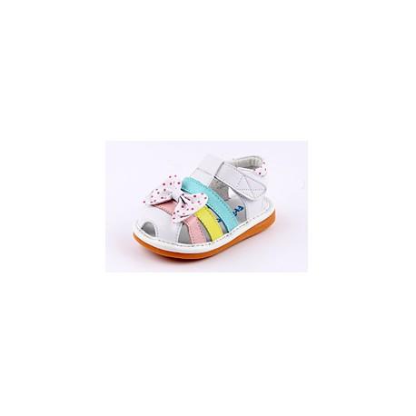 Kožené sandále Freycoo - Nora biele